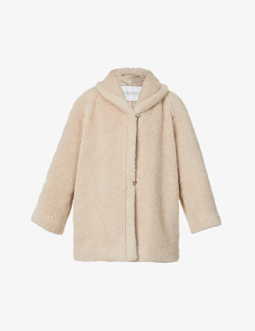 MAX MARA Teddy alpaca, wool and silk-blend coat