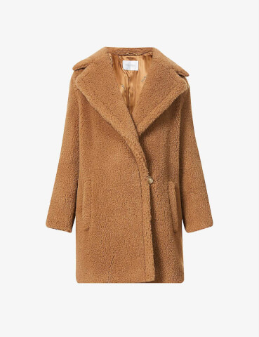 MAX MARA Orchis camel and silk-blend coat