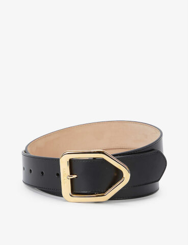 TOM FORD Logo-engraved leather belt