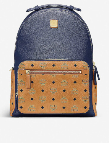 MCM Stark brand-print medium coated-canvas backpack