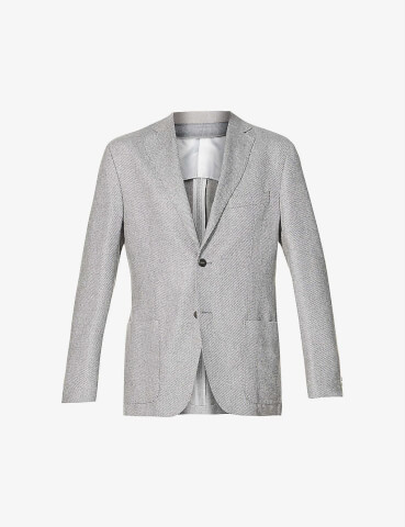 CORNELIANI Single-breasted virgin wool blazer
