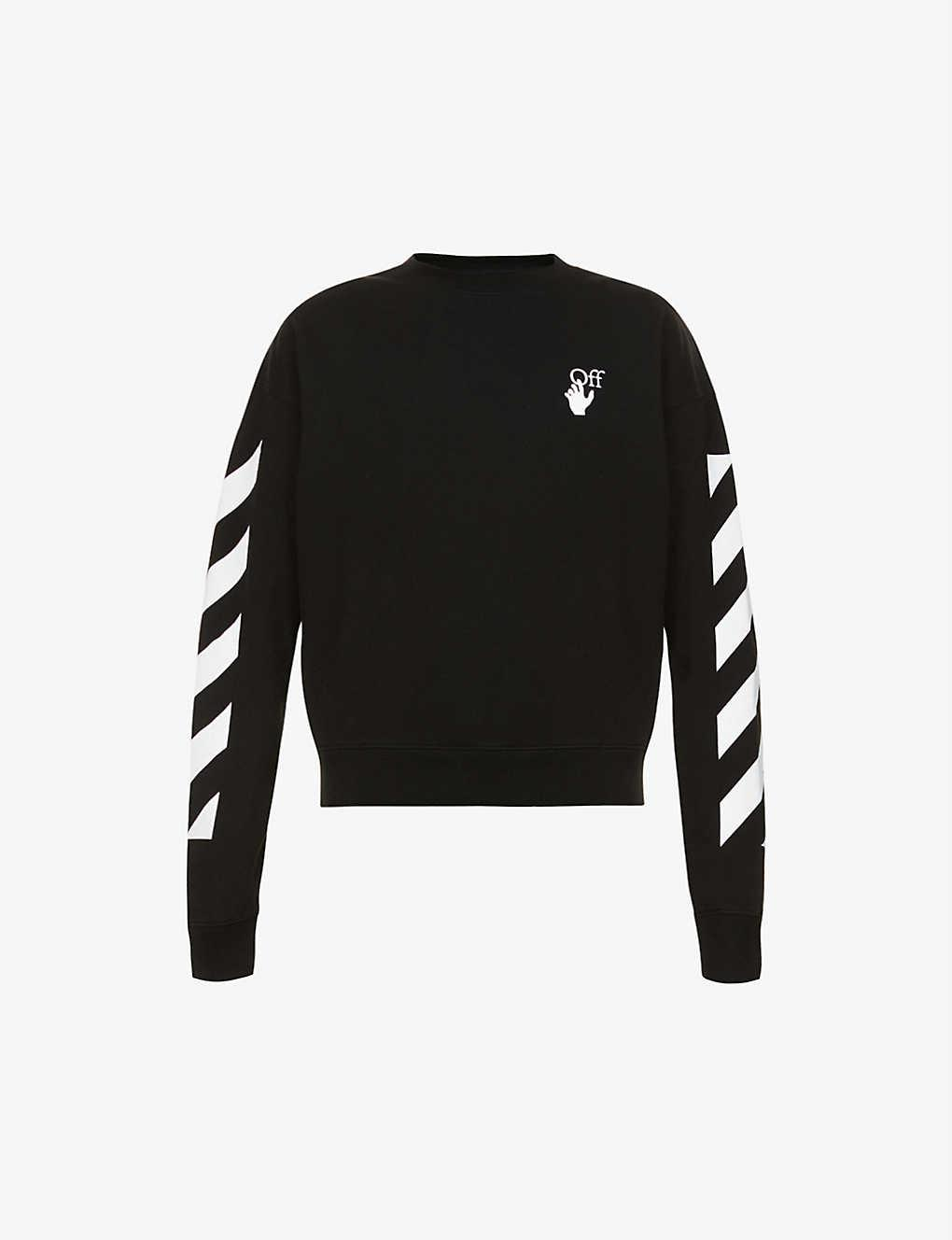 OFF-WHITE C/O VIRGIL ABLOH Agreement graphic-print cotton-jersey sweatshirt
