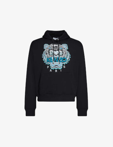 KENZO Tiger relaxed-fit cotton-jersey hoody