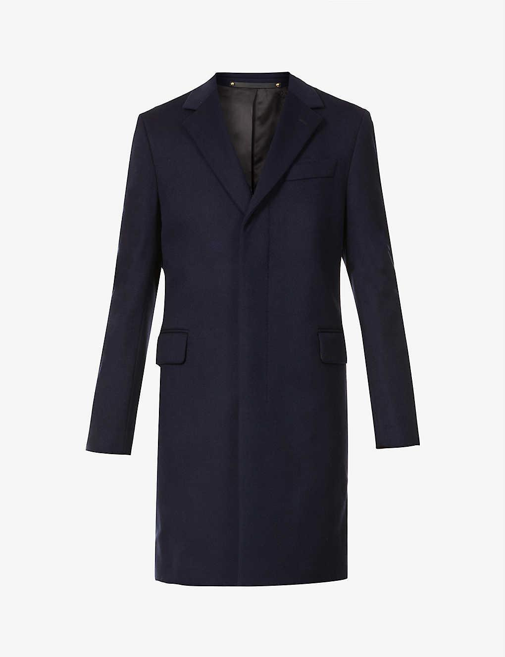 PAUL SMITH Epson single-breasted wool and cashmere-blend coat