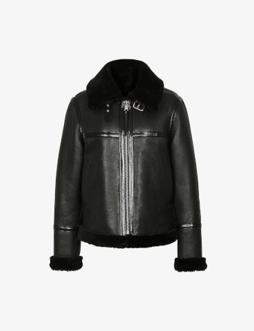 REISS Margot shearling jacket