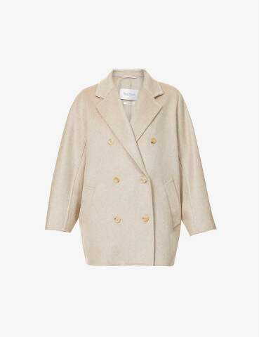 MAX MARA Double-breasted cashmere coat