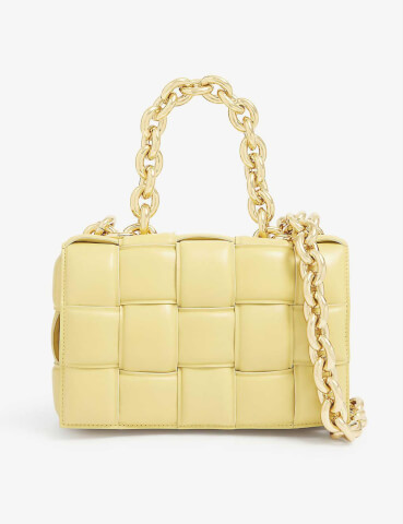 BOTTEGA VENETA The Chain Cassette intrecciato leather cross-body bag