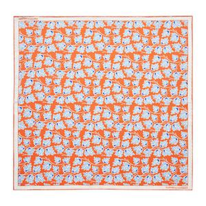 Turnbull & Asser Orange Vine Print Silk Pocket Square