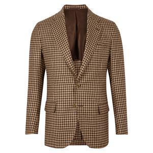 De Petrillo Brown And Beige Jacket