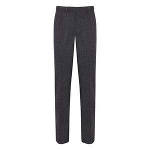 De Petrillo Grey Flannel Pleated Trouser