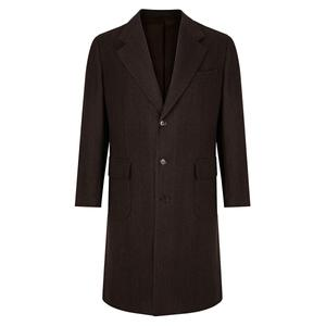 De Petrillo Single Breasted Brown Malatesta Coat