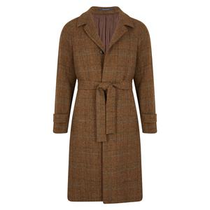 Gaiola Brown Shetland Wool Single-Breasted Raglan Sleeve Coat