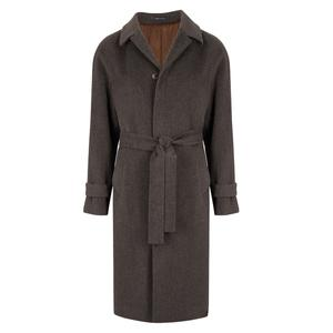 Gaiola Grey Belted Single Breasted Coat