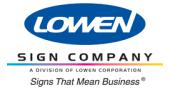 Lowen Sign Co. Discounts